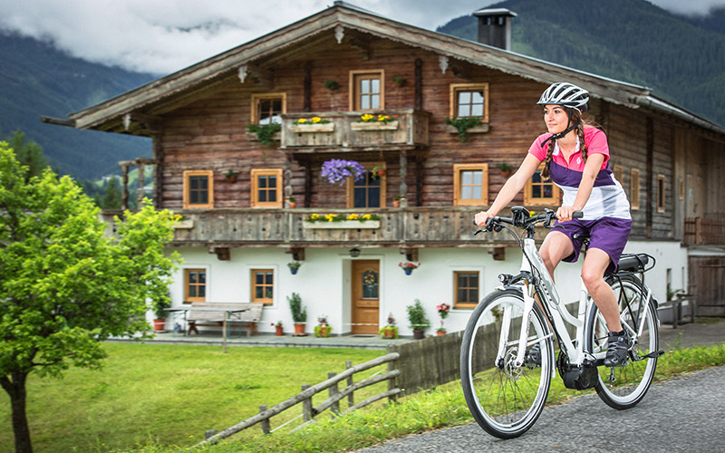 Pleasurable biking in Leogang